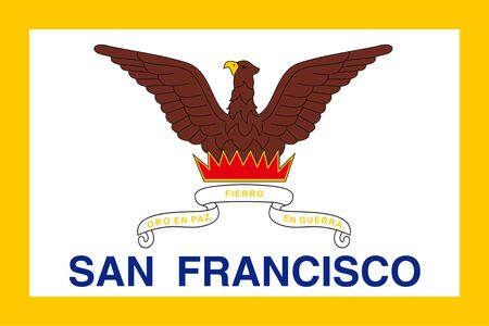 Flag of San Francisco. Flag of the city of San Francisco, California, USA.