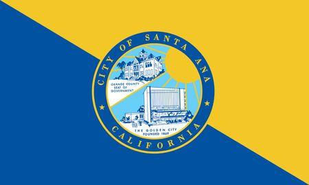 Flag of the City of Santa Ana, California, USA.