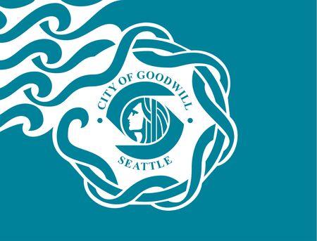 Flag of Seattle, WA. Flag of the city of Seattle, WA, USA.