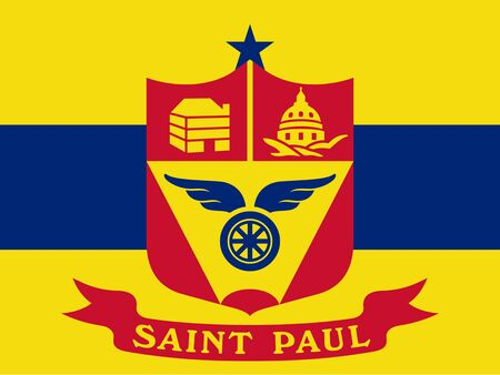 Flag of the City of Saint Paul, Minnesota, USA. 写真素材