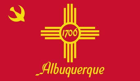 Flag of the City of Albuquerque, New Mexico, USA.