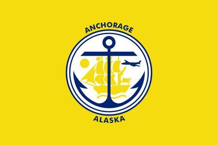 Flag of the City of Anchorage, Alaska, USA.