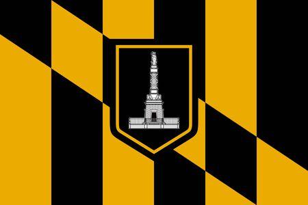 Flag of Baltimore. Flag of the city of Baltimore, Maryland, USA.