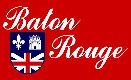 Flag of the City of Baton Rouge, Louisiana, USA. 写真素材