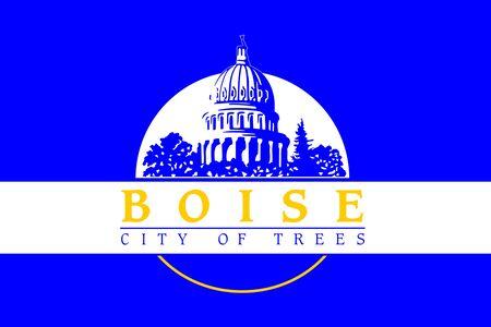 Flag of the City of Boise, Idaho, USA. 写真素材