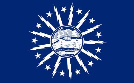 Flag of the City of Buffalo, New York, USA.