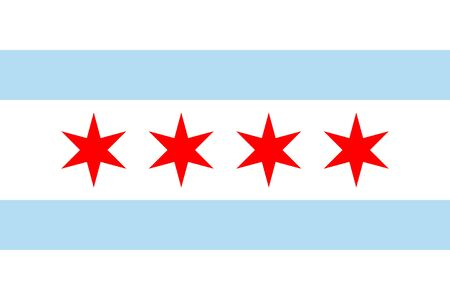 Flag of Chicago. Flag of the City of Chicago, Illinois, USA.