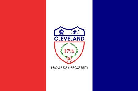 Flag of the City of Cleveland, Ohio, USA.