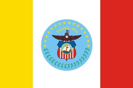 Flag of Columbus. Flag of the city of Columbus, Ohio, USA.