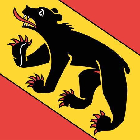 Flag of Canton of Bern, Switzerland.