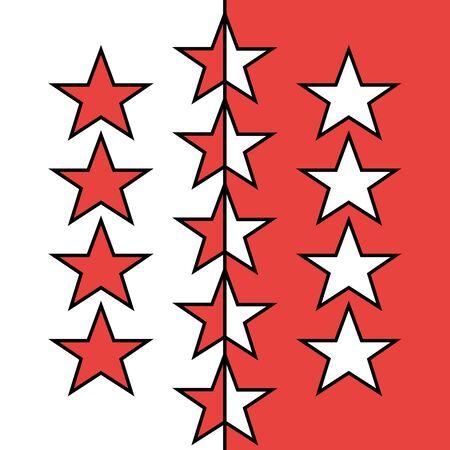 Flag of Canton of Valais, Switzerland.  写真素材