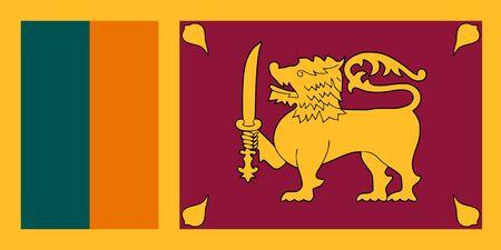 Flag of Sri Lanka. Democratic Socialist Republic of Sri Lanka 写真素材
