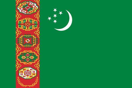 Flag of Turkmenistan. Turkmenistan flag