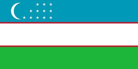 Flag of Uzbekistan. Republic of Uzbekistan. Uzbek flag