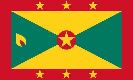 Flag of Grenada.  Grenada flag. 写真素材
