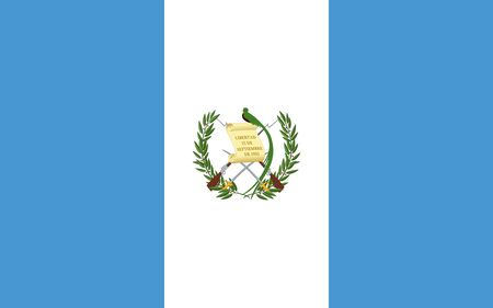 Flag of Guatemala. Republic of Guatemala flag.
