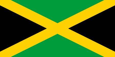 Flag of Jamaica. Jamaica flag. Banque d'images