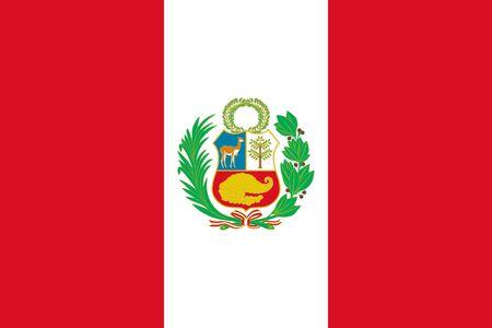 Flag of Peru. National flag of Peru.
