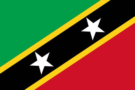 Flag of Saint Kitts and Nevis 写真素材
