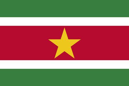 Flag of Suriname. Republic of Suriname.