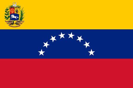 Flag of Venezuela. Bolivarian Republic of Venezuela.