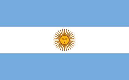 Flag of Argentina. Argentine Republic flag