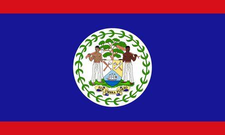 Flag of Belize. Belize flag. 写真素材