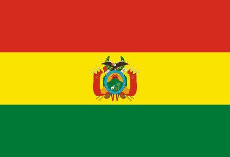 Flag of Bolivia. Plurinational State of Bolivia.