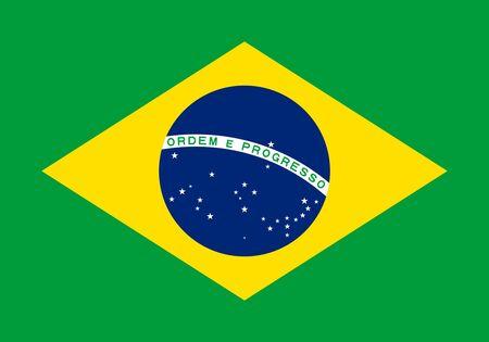 Flag of Brazil. Flag of Federative Republic of Brazil