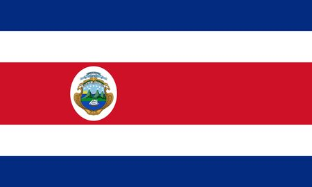 Flag of Costa Rica. Republic of Costa Rica flag.