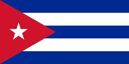 Flag of Cuba. Republic of Cuba flag