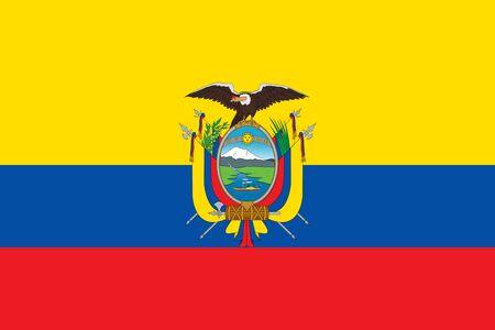 Flag of Ecuador. Republic of Ecuador flag. 写真素材