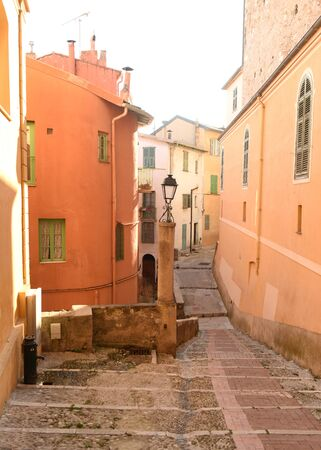 Old city of Menton, France.