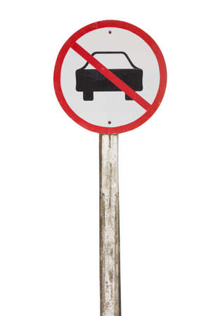 No car or no parking traffic sign,prohibit sign
