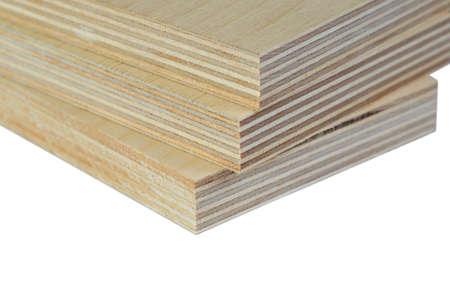 The Macro isolate three light plywood boards stacked Standard-Bild
