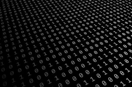 black-white Set of random binaries captured for digital or business concept background Stock Photo