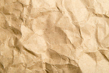 the abstract texture Crumpled brown paper background