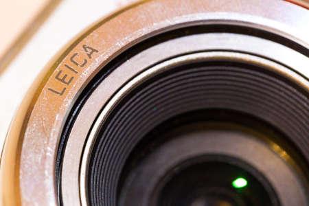 Nizhny Novgorod, Russia - September 21, 2017: Optical lens Leica, macro