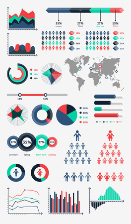 World map infographic.