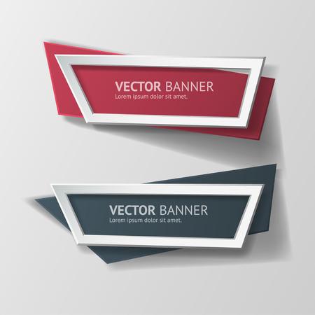 ベクター インフォ グラフィック折り紙バナーを設定します。