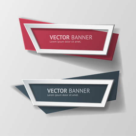 Vector origami infographie Banners Set. Banque d'images - 35139722