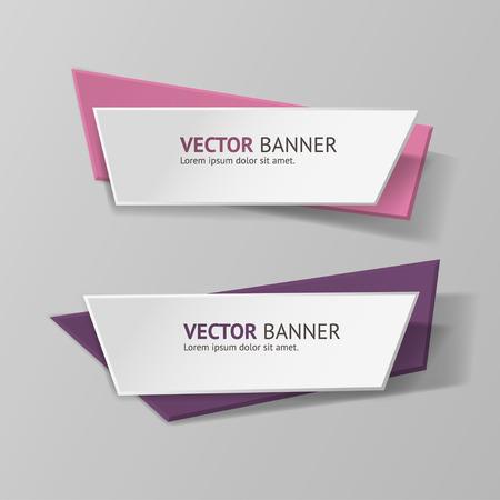 the label: Vector origami infograf�a banderas conjunto. Vectores