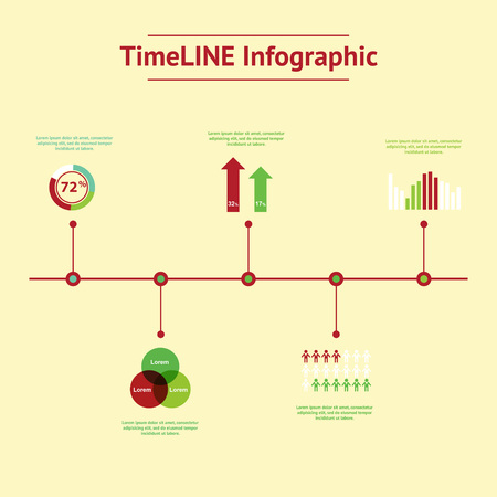 time line: Time line infographic. Vector illustration for your web and print visualization, presentation and design