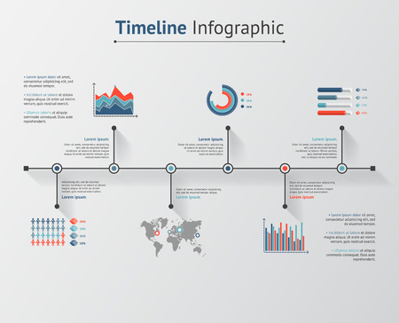 visualization: Time line infographic. Vector illustration for your web and print visualization, presentation and design