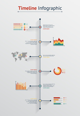 Time line infographic. Vector illustration for your web and print visualization, presentation and design