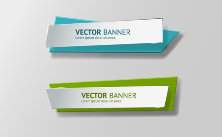 origami banner: Vector infographic origami banners set.