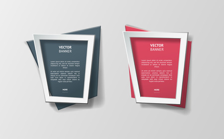 vector web design elements: Vector infographic origami banners set.