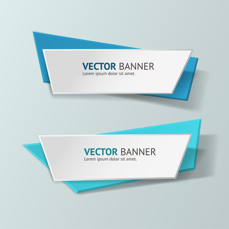 message box: Vector infographic origami banners set.