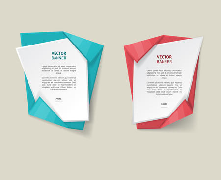 text box: Vector infographic origami banners set.