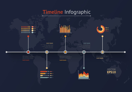 Timeline vector infographic world map royalty free cliparts timeline vector infographic world map stock vector 41867413 gumiabroncs Image collections